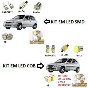Kit Led Corsa Hatch Wind Sedan Classic 1995 À 2010