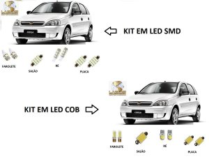 Kit Led Corsa Classic Hatch Wind Sedan Classic 2011 À 2015