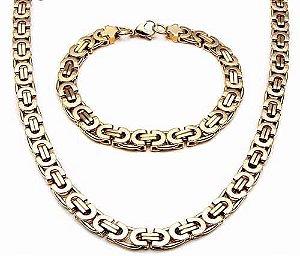 Conjunto Bizantino (Cordão e pulseira)