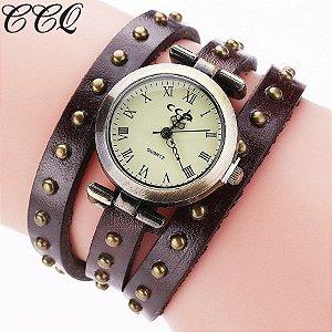 Relógio CCQ Vintage Tachas