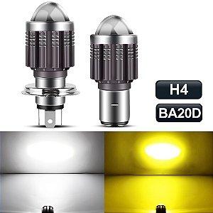 Lâmpada Led H4 BA20D com Projetor