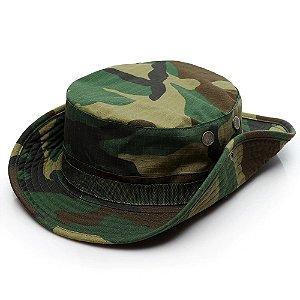 Chapéu Militar Tático Boonie Camuflado Selva