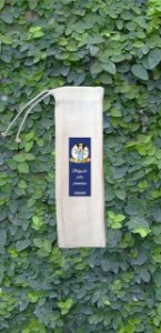 Saquinhos Ecológicos P/Canudos Inox C/Arte 5,5X25 C/ 10 Unidades