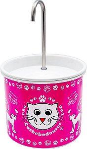 Bebedouro Fonte para Gatos Catbebedouros - Rosa