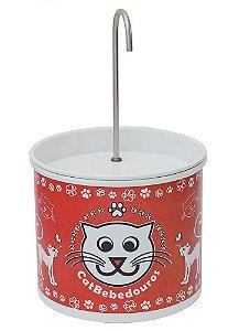 Bebedouro Fonte para Gatos Catbebedouros - Vermelho
