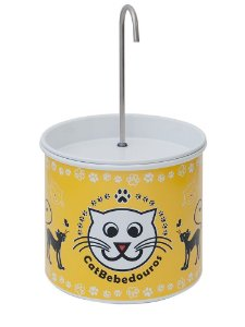 Bebedouro Fonte para Gatos Catbebedouros - Amarelo