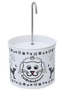 Bebedouro Fonte para Gatos Catbebedouros - Branco