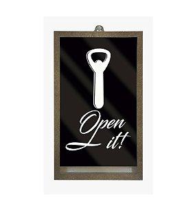 Porta tampinhas de cerveja - Open it