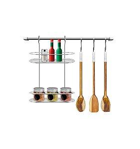 Kit Cozinha Suspensa com Porta Condimentos
