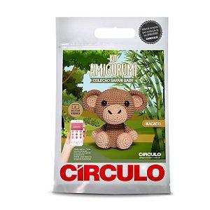 Kit Amigurumi - Safári Baby - Macaco