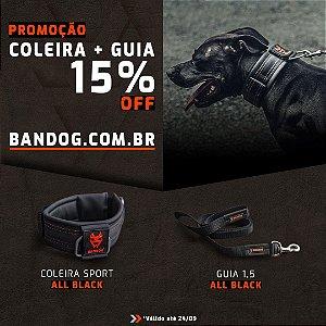Coleira All Black + Guia All Black