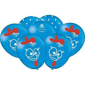 Balão Látex 9'' Galinha Pintadinha com 25 unidades