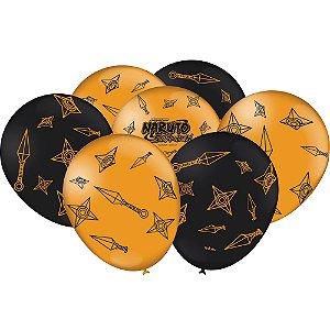 Balão Naruto 9'' com 25 unidades