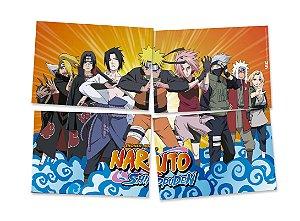 Painel 4 Lâminas Naruto 1,28m x 90cm