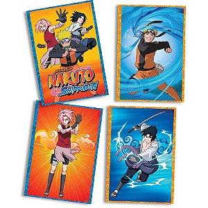 Quadros Decorativos Naruto com 04 unidades