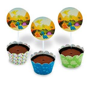 Kit Cupcake Baby Dino com 06 unidades