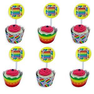 Kit Cupcake Pop It com 06 unidades