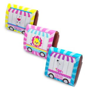 Embalagem para Brownie Circo Rosa com 06 unidades