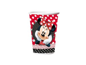 Copo Papel 330Ml Red Minnie Com 08 Unidades