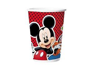 Copo Papel 180Ml Mickey Classico Com 08 Unidades