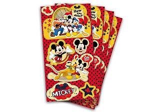 Lembrança Adesiva Mickey Classico Com 04 Unidades