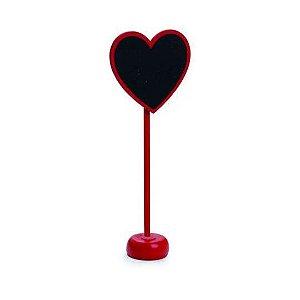 Lousa Com Apoio Coração Vermelho