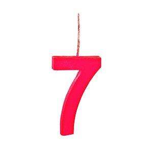 Vela N°7 Colors Vermelho