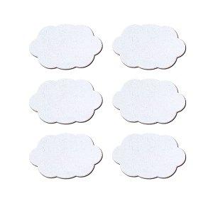 Mini Lousas Adesivas Nuvens Branco Com 06 Unidades