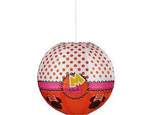 Lanterna Papel Vermelho Minnie 30Cm