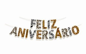 Faixa Feliz Aniversário Safari