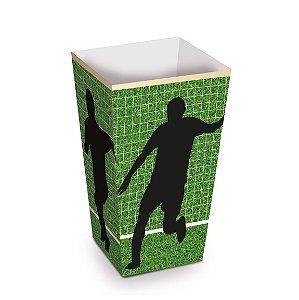 Caixa para Pipoca Futebol 6X6X12,5 com 10 Unidades