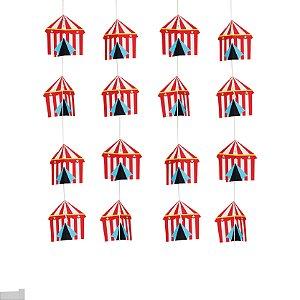 Cortina Decorativa 3D Circus com 04 Unidades
