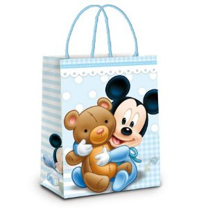 Sacola Laminada Mickey Baby 21,5X15X8