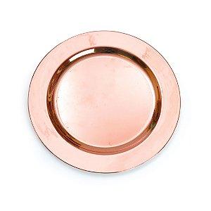 Linha Premium Prato Bronze Liso 19Cm com 06 Unidades