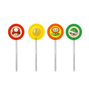 Pick Decorativo Super Mario com 12 Unidades