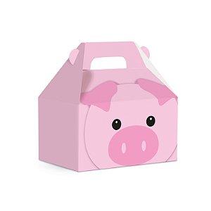 Caixa Maleta Kids Fazendinha Porco 12x8x12 com 10 Unidades