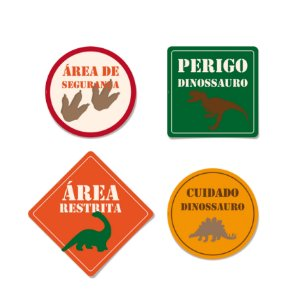 Cartazes Decorativos Mundo dos Dinossauros c/ 8 und