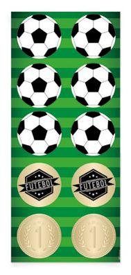 Cartela de Adesivos Futebol c/ 30 und
