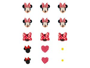 Confete De Papel Red Minnie