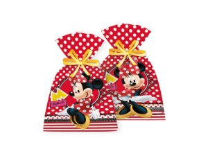 Sacola Surpresa Red Minnie14x27cm