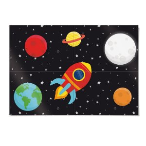 Painel 4 lâminas Astronauta 66 x 46 cm