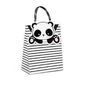 Sacola Papel com Fecho Panda P 21,5x15x8