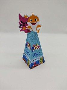 Caixa cone Baby Shark com 06 unidades