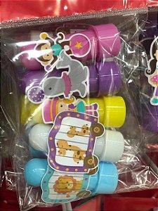Mini Tubete Circo Rosa com 05 unidades