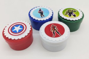 Lata redonda Vingadores com 6 unidades