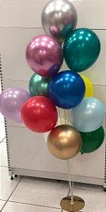 Suporte para balão base dourada