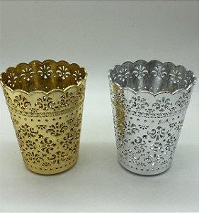 Cachepot dourado ou prata UND