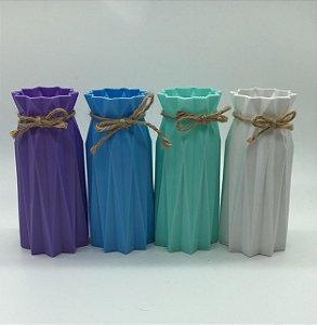 Vaso lilás, azul, verde ou branco 17x7,5
