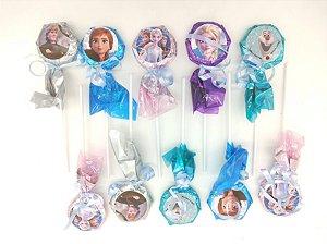 Pirulito personalizado Frozen II com 10 unidades
