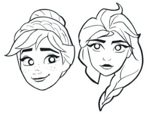 Máscara de Pintar Frozen II com 06 unidades